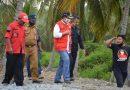Kunker Di Balantak Utara, Bupati Herwin Pantau Pembangunan Bronjong