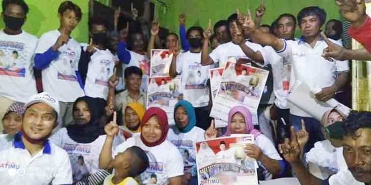 Relawan HATIMU di Batui Selatan Optimis Jemput Kemenangan